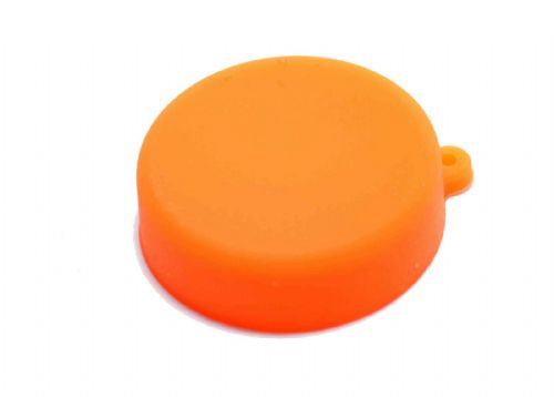 Soft Silicone Orange Camera Lens Protective Cover Cap for GoPro Hero 3/3+/4